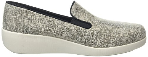FitFlop F-Pop Skate, Mocassini Donna Multicolore (Stone Pebbleprint)