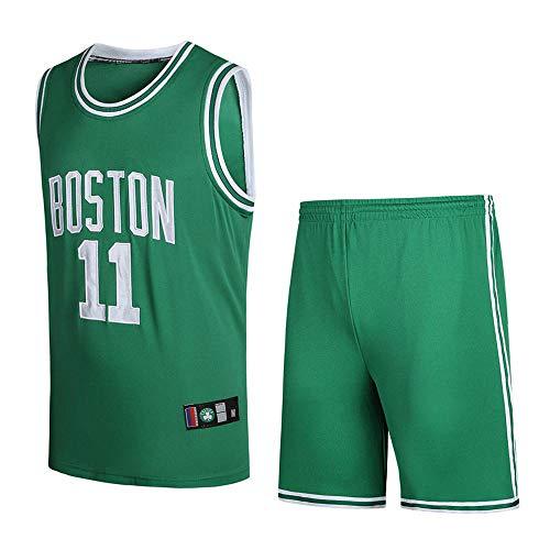 SumPo Basketball-Spieltrikots Für Herren Kyrie Irving # 11 Männer Basketballtrikot NBA Boston Celtics New Jersey Bestickter Stoff Jersey (Größe: S-XXXL)