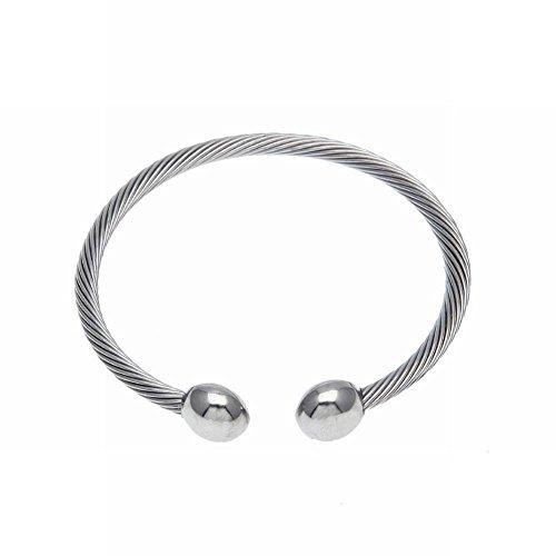 Öffnen Sie Magnetisches Schnallenarmbandgesundheitswesenarmbandmagnet Des Rostfreien Stahls Verdrehtes Seilarmband , Stehlen