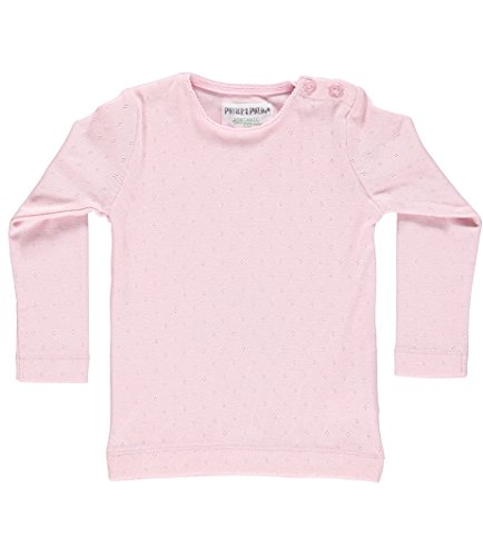 Phister & Philina Mädchen Delicia Pointelle Organic Langarmshirt, Rosa (Pink Mist Pin), 92 Baby-pointelle