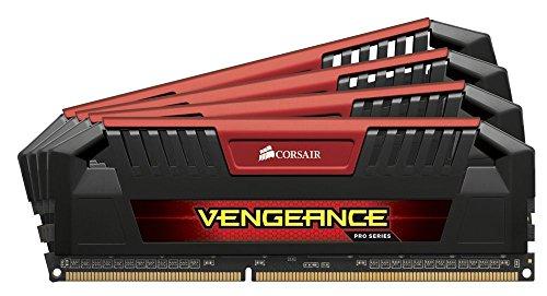 Corsair Vengeance Pro Rot 32GB (4x8GB) DDR3 1600 MHz (PC3 12800) Desktop Arbeitsspeicher (CMY32GX3M4A1600C9R)