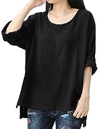 Preisvergleich für PAOLIAN Damen Langarm Beiläufige lose Oberseiten T-Shirt lange Hülsen Bluse Pullover Sweatshirt Tops