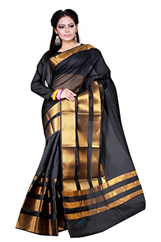 Asavari Saree (As15Amn-4Pt-Blk_Ebony Black)  available at amazon for Rs.799