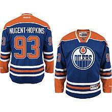 Reebok Ryan Nugent-Hopkins Jersey #93 Edmonton Oilers Blue Premier Jersey -
