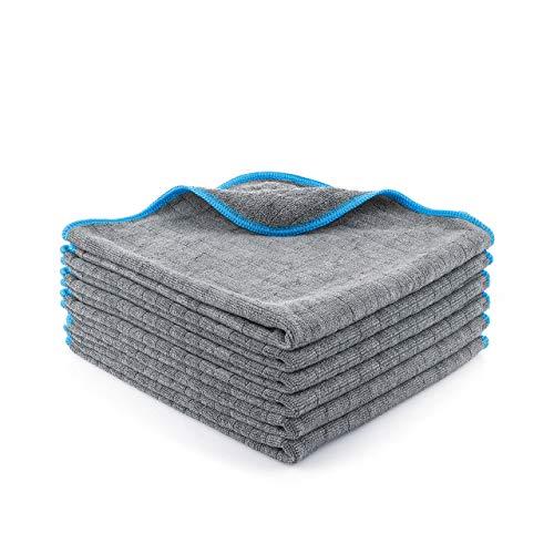 Lavandola® Mikrofasertücher für Ihren Haushalt - extrem saugstark und schonend weich dank 380 GSM- fusselfreie Reinigungstücher für Haushalt, Küche und Bad - Microfasertuch - 6 Stück 40x40cm