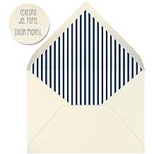 sobres forrados invitaciones de boda-RAYAS- 22,5x16,5 cm. (azul marino)