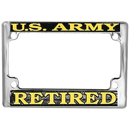 Preisvergleich Produktbild US Army Retired Motorcycle License Plate Frame by Honor Country