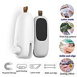 Meiyijia - Scelleuse de Chauffage Portable, Soudé-Sac Plastique, 2 en 1 coupe et Double joint d'étanchéité, scelleuse, Rechargeable-Batterie au lithium