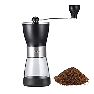 Coffee Grinder, GreensKon Premium Adjustable Mill Ceramic Grinder Portable Manual Hand Crank Coffee Grinder for Travel, Camping, Hiking, Outdoor by Preup