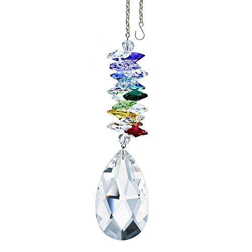 Crystalplace deca collection colorato cristallo ornamento, finiture in vera pelle con swarovski elements