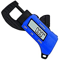 SAFESEED Mini Digital Thickness Gauge Caliper Electronic Pocket Micrometer 0 to 12.7 mm LCD Digital Portable Width…