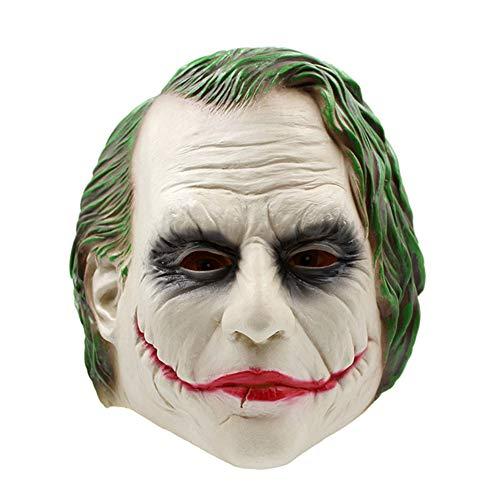Lanbowo Latex Joker Clown Maske Kostüm Halloween Masken Erwachsenen Cosplay Film Full Head Party Supplies Spielzeug der Erwachsenen Kinder der festlichen Partyzusätze Spaß und realistisch