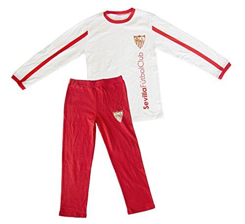 Sevilla CF Pijsev Pijama, Blanco/Rojo, L