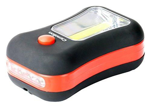 Preisvergleich Produktbild Camelion 30200048, Multi Light 2 in 1 3W COB LED Seitenfläche und 4 LEDs Vorderseite, Plastik, Schwarz / Orange, 9.5 x 5.85 x 3.5 cm