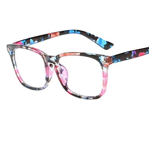 REALIKE Unisex Damen Herren Klassische Quadrat Rahmen Flacher Spiegel Mode Blaues Licht glasses Gemütlich Leicht Tragen Sie beständig Anti Blue Ray Brille Travel ()