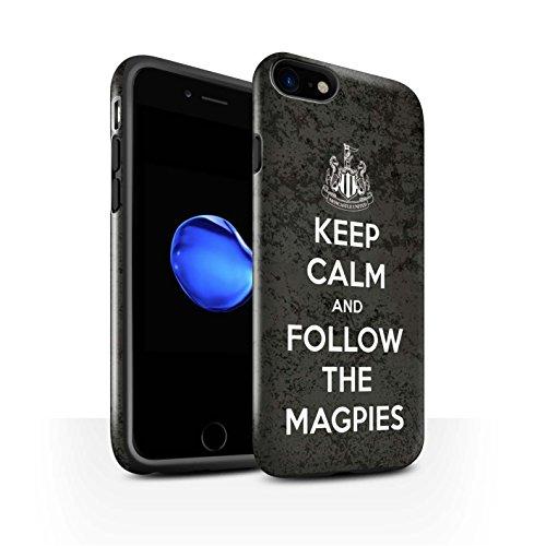 Officiel Newcastle United FC Coque / Brillant Robuste Antichoc Etui pour Apple iPhone 7 / Pack 7pcs Design / NUFC Keep Calm Collection Suivez/Magpies