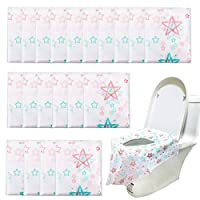 ADDCOOL 20/30 pcs Disposable Potty Seat Cover Large Size Travel Toilet Seat Cover Waterproof Protectors for Kids Potty Training or Public Toilet (30 pcs)