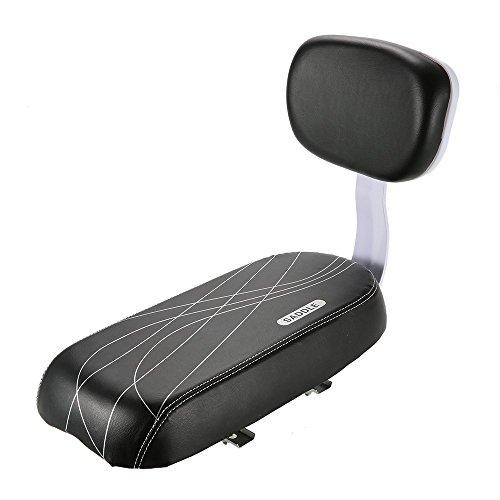 Lixada Kindersitz für Fahrräder, hinten, weiches Polster, mit Rückenlehne