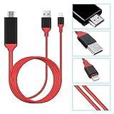 SAVFY 1080p HDMI-Kabel I Adapter Konventer Kabel für iPhone 8 X 6 5 iPad 8 TV Blitz Digitale AV-HDMI-Adapter Portable HD Kabel 2m