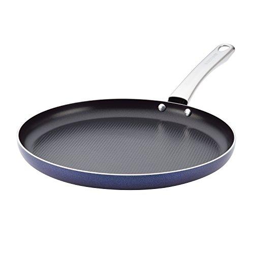 Farberware 10051Luminescence Aluminium Aluminiumguss Grillpfanne, rund, klein, Saphir-schimmernden Glanz Farberware Grill