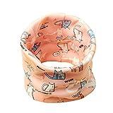 Boomly Baby Loop Schal Winter Warm Halsband Schal Baumwolle O-Ring Halstücher Nackenwärmer Halstuch Bandana Schals Für Jungen Mädchen (Rosa(#3))