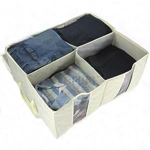 aufbewahrung jumbokisten unter dem bett 4 gro e f cher. Black Bedroom Furniture Sets. Home Design Ideas