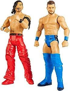 Mattel WWE-Pack de 2 Figuras de acción Luchadores Finn Balor vs Shinsuke Nakamura GBN58