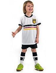 Fußball Trikotset Trikot Kinder 4 Sterne Deutschland WUNSCHNAME Nummer Geschenk Größe 98-170 T-Shirt Weltmeister 2014 Fanartikel EM 2016