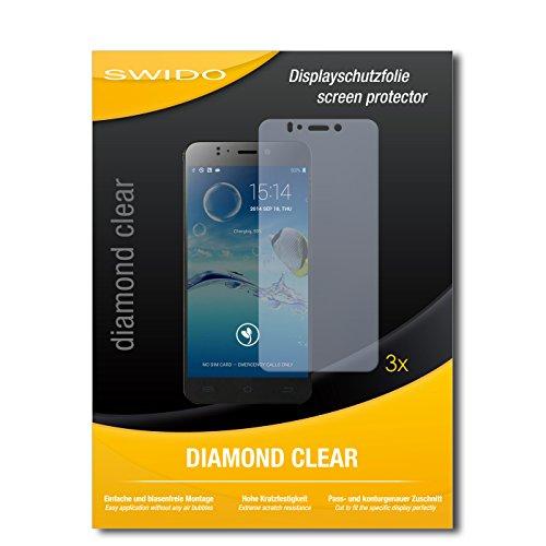 SWIDO 3 x Schutzfolie Jiayu S2 Advanced Bildschirmschutz Folie DiamondClear unsichtbar
