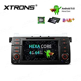 XTRONS-7-6-Core-Android-Autoradio-mit-Touchscreen-Auto-DVD-Player-Android-90-Hexa-Core-Autostereo-untersttzt-HDMI-Ausgang-4G-Bluetooth-4GB-RAM-64GB-ROM-DAB-OBD2-TPMS-FR-BMW-E46RoverMG