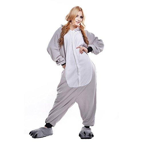 Imagen de pijamas adultos animales disfraz anime cosplay ropa de dormir franela traje unisex homewear m koala gris