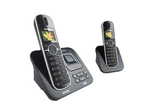 Philips CD6552B/38 Téléphone sans fil avec répondeur GAP 2 combinés Son XHD Noir