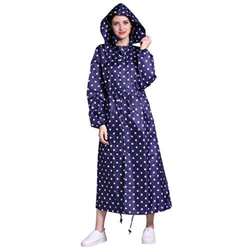Preisvergleich Produktbild LWBUKK Langer Regenmantel,  wasserdichte Windjacke Mit Kapuze Und Vollständig Versiegelte Regenbekleidung Regenmantel (Color : D,  Size : L)