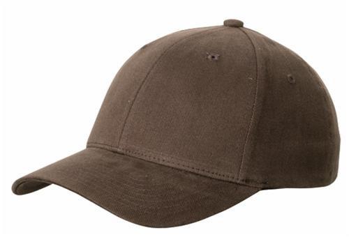 Flexfit ® Fullcap 6 Panel Baseballcap mit geschlossener Rueckseite und Elasthananteil in 13 Farben und 2 Groessen Dunkelbraun, L/XL , 57/58 cm Kopfumfang