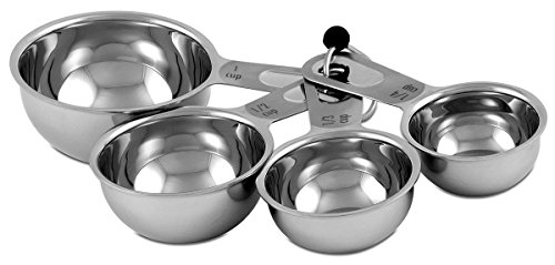 CIA Masters Collection Stainless Steel 4-Piece Measuring Cup Set by CIA (Vier Cup-messbecher)