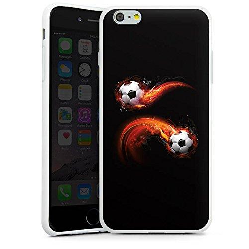 Apple iPhone 6 Plus Silikon Hülle Case Schutzhülle Fußball Sport Ball Silikon Case weiß