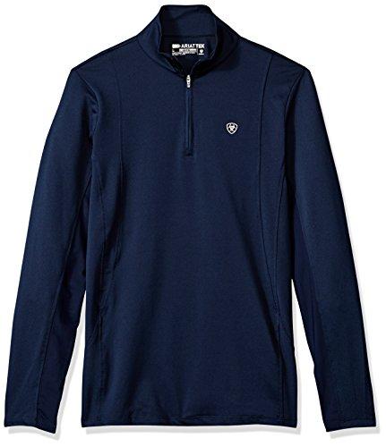 ARIAT Damen Sunstopper 1/4 Zip Pullover-DOTD Hemd, Navy, X-Klein