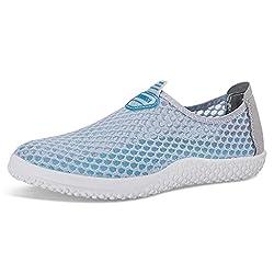 Eagsouni™ Damen Herren Mesh Outdoor Sneaker Schuhe Freizeit Elegant Sportschuhe Grau EU 41 / CN 42