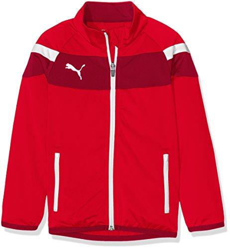 PUMA Kinder Jacke Spirit II Tricot Jacket, Red-White, 152, 654658 01