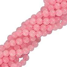 10mm De Cuarzo Natural Aumentó De Piedras Preciosas Perlas Sueltas Elaboración De Joyas De 15 Pulgadas De Color Rosa
