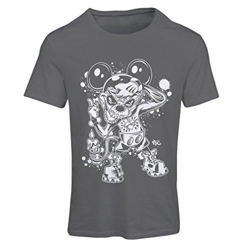 lepni.me Frauen T-Shirt Eine Maus mit Einem tollen Halloween-Party-Kostüm (Medium Graphit Mehrfarben) (Shirt Tales Halloween-kostüme)