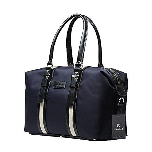 YAAGLE Business Taschen Freizeit auf Dienstreise groß Fassungsvermögen Schultertasche Handtasche Reisetasche wasserdicht-schwarz blau