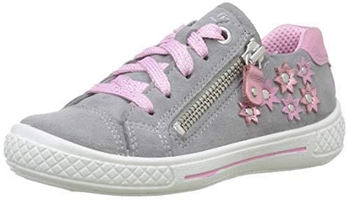 Superfit Mädchen Tensy Sneaker, Grau (Hellgrau/Rosa 25), 34 EU