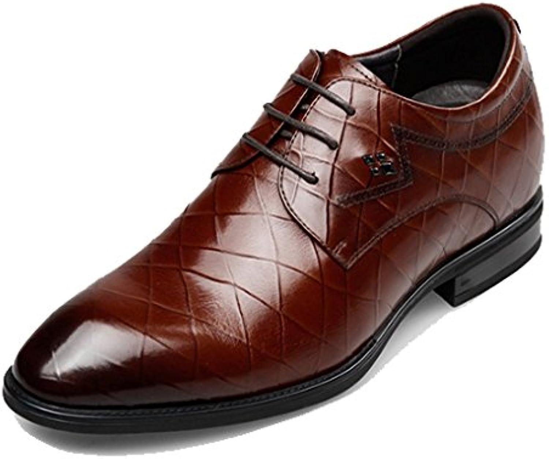 XYCSZQ Hombres Zapatos De Cuero Negocios Encaje Caucho Transpirable Cómodo -