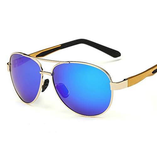 Anti Shock Super Lightweight Rahmen Aluminium Magnesium Alloy UV400 UV Polarized Sonnenbrillen Super Accessoires (Color : Gold, Size : Kostenlos)