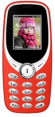 I KALL K31 Dual Sim 1.8 Inch Display Basic Feature Mobile Phone With Bluetooth, GPRS, FM Radios, Flash Light And 1000 Mah Battery Capacity- Red
