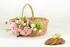 Idea Regalo - Cestino pasquale fatto a mano cestino profondo con decorazioni floreali