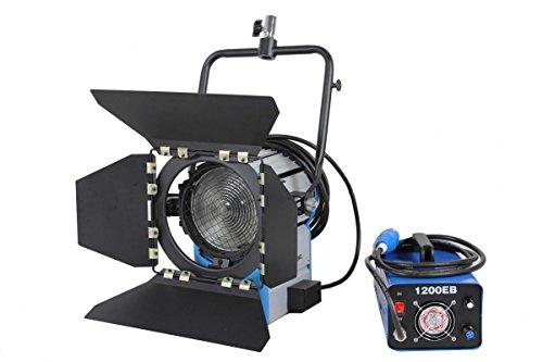 PYXEL STUDIO QueenshinyNew! Actualizar 1200W 1.2K HMI Fresnel Light + balasto electrónico + Bombilla + Funda de Aluminio de iluminación como arri Compacto Kit Profesional