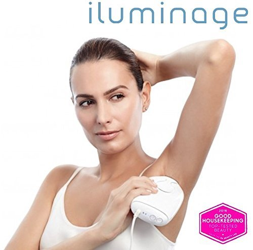 Hair Removal System iluminage Precise Permanent Touch Hair Reduction System with 300,000 Flashes for Men & Women - Uses elos technology to reduce hair permanently