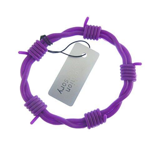 Herren /jungen violett silikon stacheldraht armreif